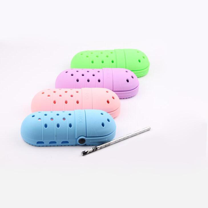 Канцелярские принадлежности, силиконовый пенал с креативным дизайном, пенал с отверстиями для хранения ручки, подарок для детей