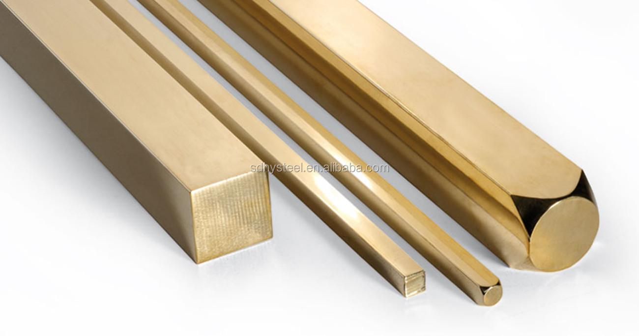 Hexagonal Bar C360 C27400 CuZn37 etc Brass Rods for Multipurpose Industrial Application