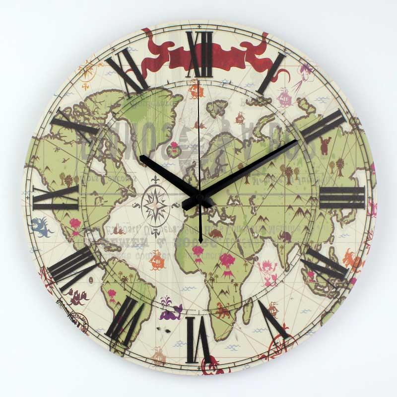 horloge murale monde promotion achetez des horloge murale monde promotionnels sur. Black Bedroom Furniture Sets. Home Design Ideas