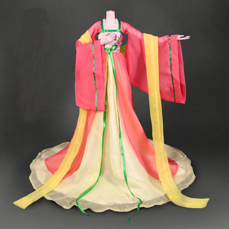 Древний костюм ручной работы, платье для девочки, Китайская Одежда для куклы 1/3 Bjd, аксессуары для кукол, игрушки для девочек(Китай)