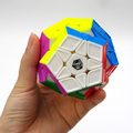 Newest Qiyi X Man Galaxy Megaminx Sculpture Convex Concave Plane Cubo Magico Speed Cube Twist puzzle