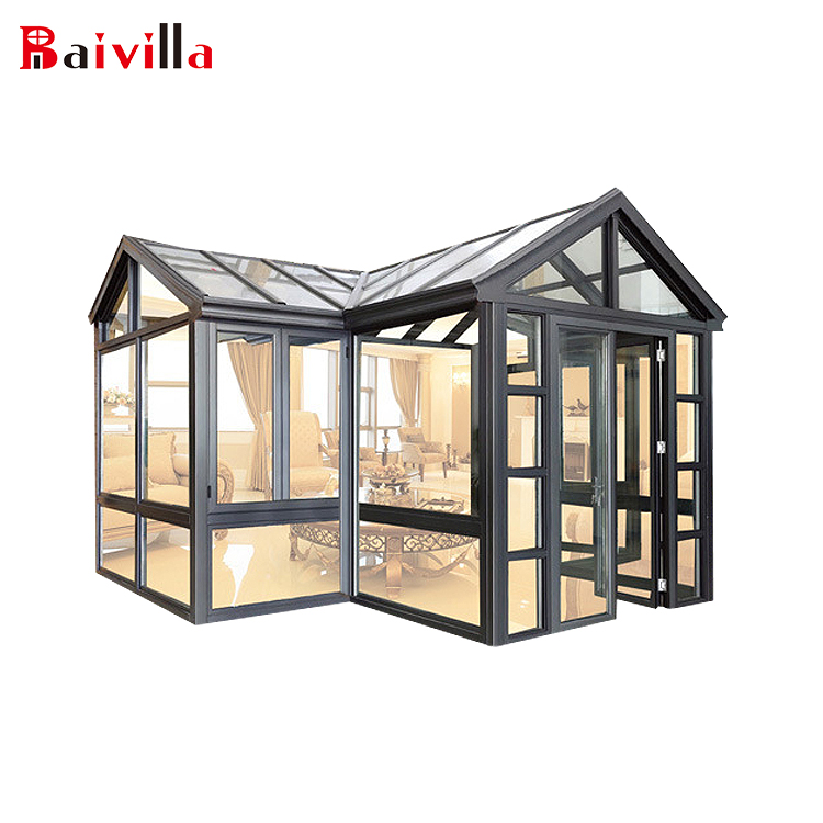 Baivilla изогнутые Lowes уникальные стеклянные солнцезащитные очки Sunroom алюминиевая оправа sunroom