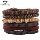Coconut Shell China Foreign Trade Suit Bracelet Coconut Shell Diy Braided Leather Braceletbeaded Bracelet For Boys Beaded Bangles Diy Trade In China