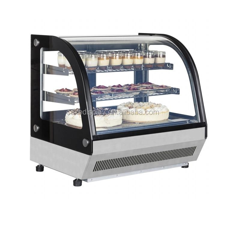 Cheap Price Mini Table Top Cake Showcase Cooler