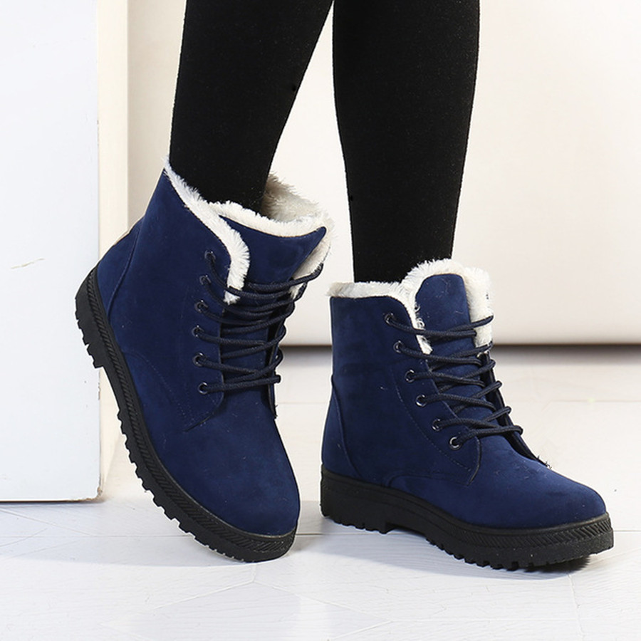 Snow boots 2016 fashion warm ankle boots women winter