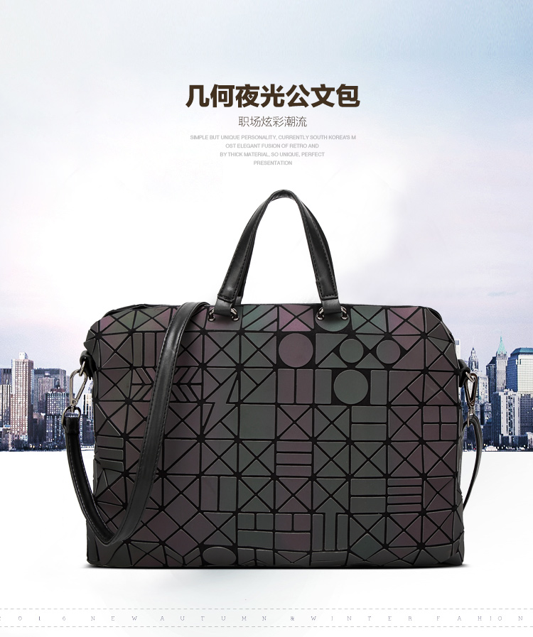 ec1251d17fcb Lasen bag 2017 New Brand Famous logo bag Women Geometry Totes Sequins  Mirror Saser Plain Folding ...