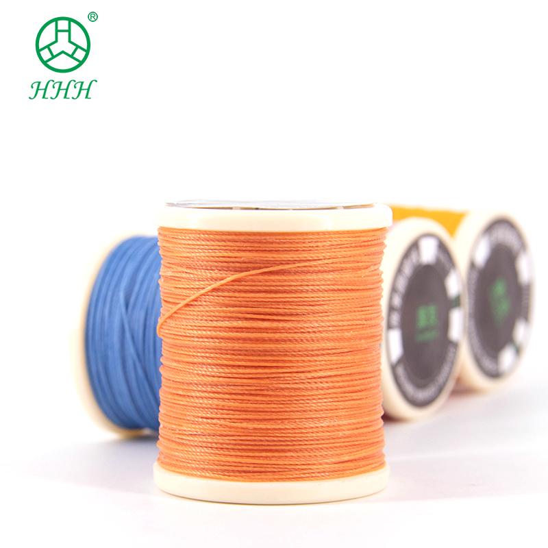 0,5 мм круглая оплетка из полиэстера, вощеная нить для обуви, швейная вощеная нить, шнур