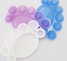 5Pcs Drawing Painting Tool Nail Art Polish Color Mixing Palette Dish Wholesales