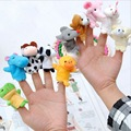 10 pcs set Baby Plush Toys Cartoon Animal Finger Hand Puppet Happy Family Fun Plush Toy