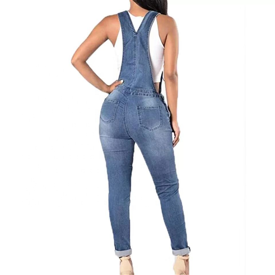 Black Friday Deals Holes Overall Jeans New 2018 Fashion Women Jumpsuit Baggy Destroyed Look Pants Size S-XL