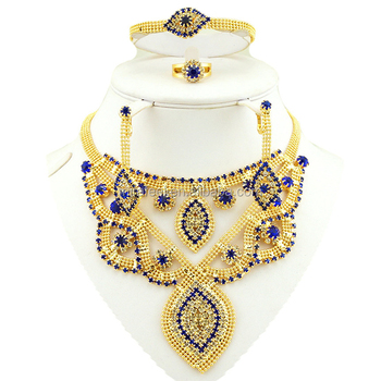 Special design indian wedding flowers jewelry gold plated