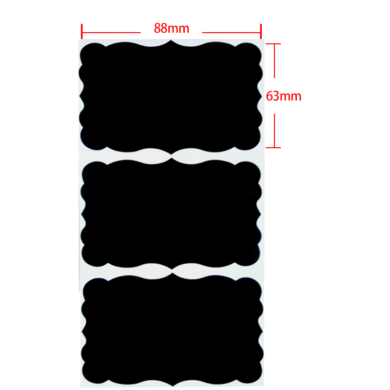 Blackboard Sticker Craft Kitchen Jar Organizer Labels Chalkboard Chalk Board Stickers Black