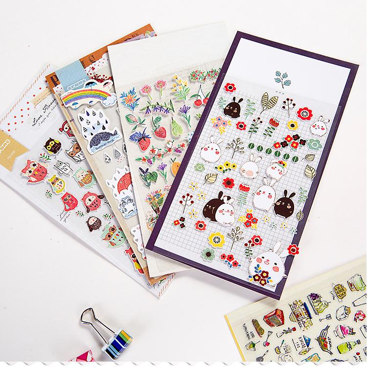 Cute Molang Mini Decorative Stickers Scrapbooking DIY Diary Album Stick Label Decor Student Supply