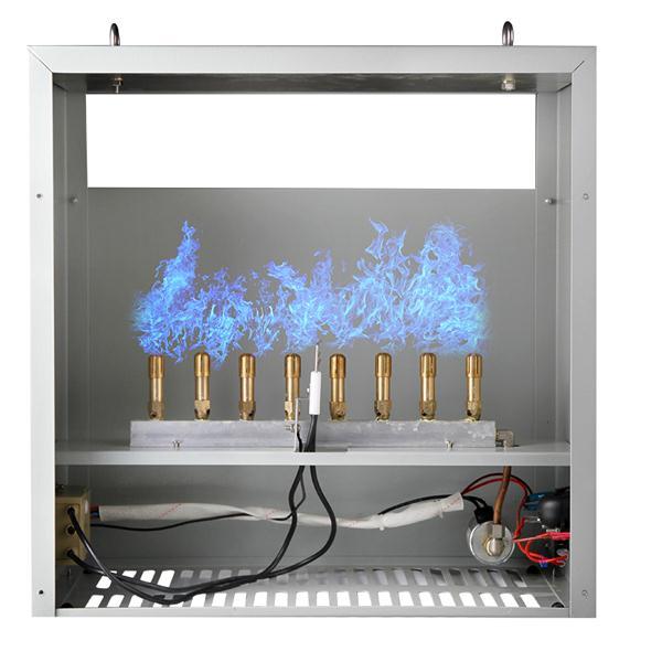 Пропановый или природный газ, двойной режим, 4 или 8 горелок, генератор углекислого газа CO2