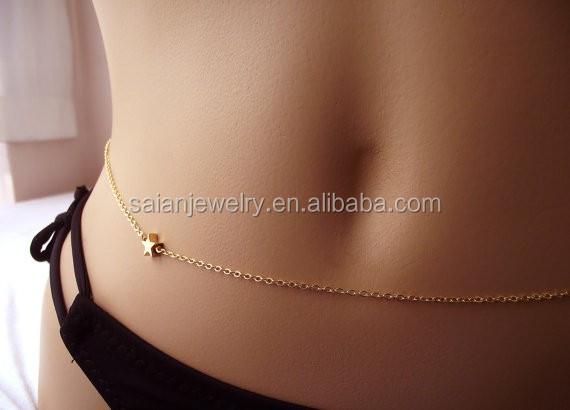 Модная пикантная поясная цепочка, индивидуальная поясная цепочка, цепочка с пятиконечной звездой любви для ведомой женщины