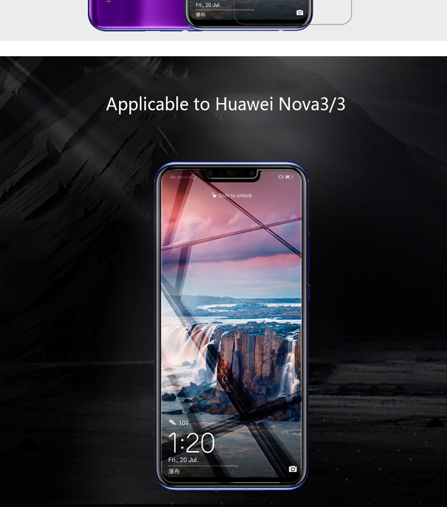 NIKKLIN Frosted HD Anti-Fingerprint Scratch-Proof Screen Protector Film  With Lens Protector For Huawei Nova 3 / 3i Transparent/Frosted