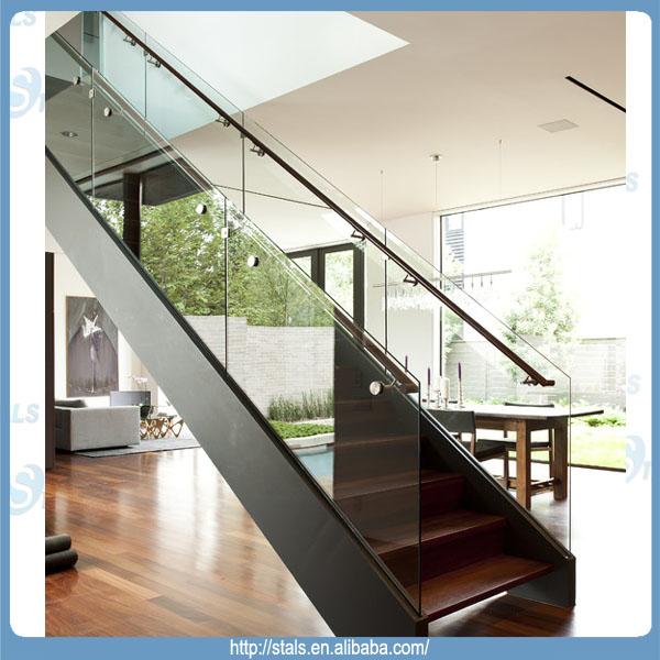 moderne gerade treppe glasgel nder treppe f r den innen treppe produkt id 1644402993 german. Black Bedroom Furniture Sets. Home Design Ideas