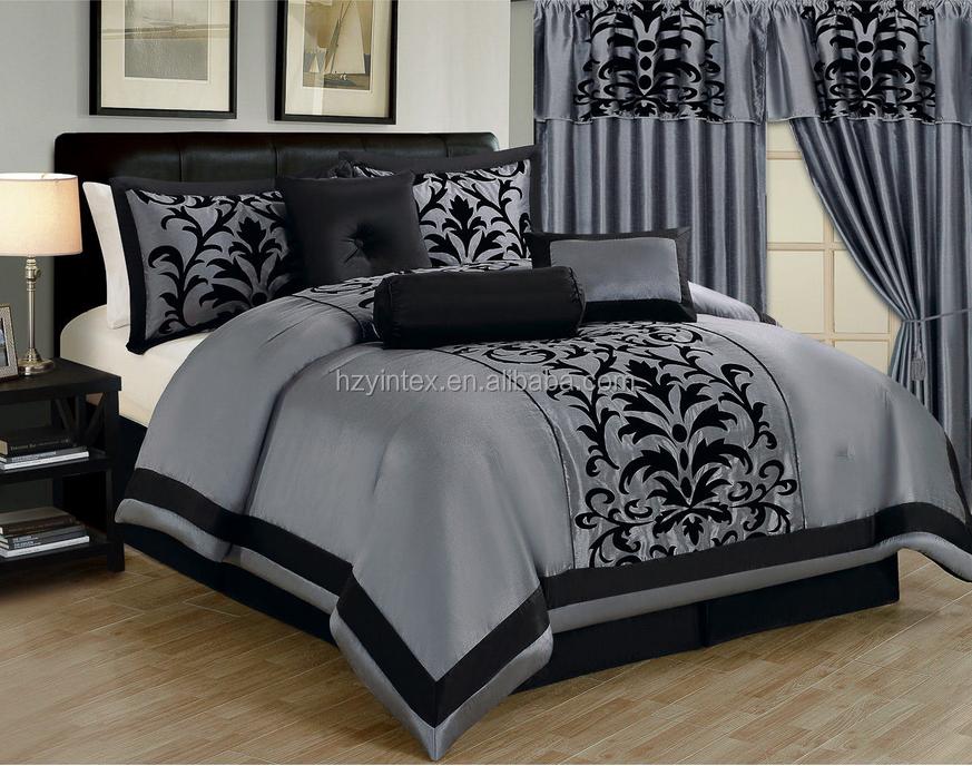 Sheet Set 4 PCs Egyptian Cotton 1000 TC Queen Size Light Blue Stripe Color