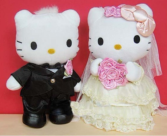 Hello Kitty Wedding Gift: Hello Kitty Plush Married Jackknifed Doll Marriage Wedding