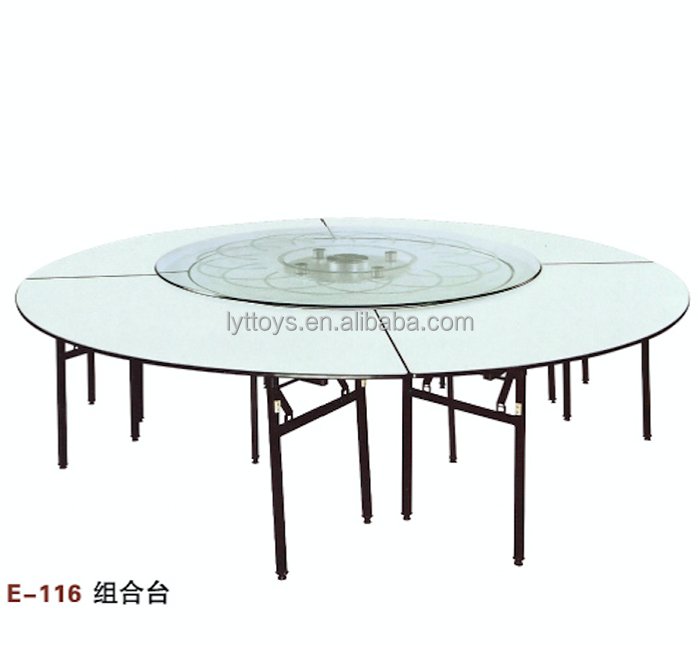 10 People round folding dining table for modern outdoor furniture