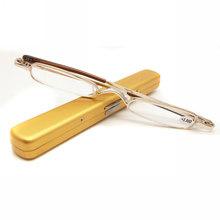 Mayitr мини портативные металлические очки для чтения с полной оправой, 4 цвета, тонкие очки для чтения, очки для дальнозоркости + 1,0 ~ + 4,0(Китай)