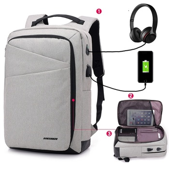 Anti-Theft Business Backpack 15.6 Inch Laptop Water-Resistant with USB Port Charging Travel Bag