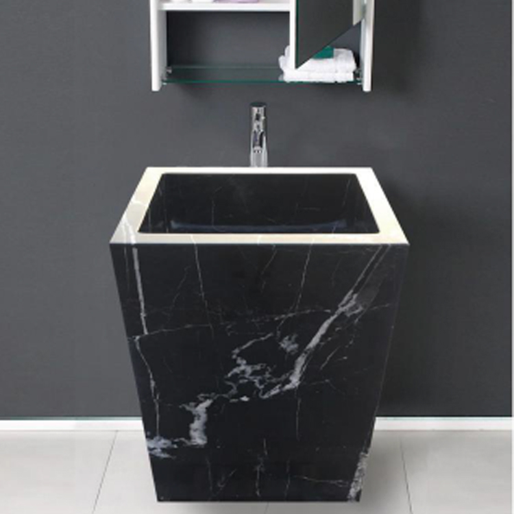 Black Marble Pedestal Sink For Sale Buy Unique Sinks Cheap Free Standing Product On Alibaba Com
