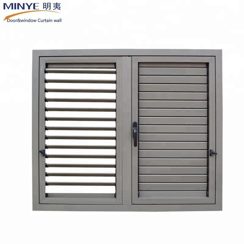 Дизайн окна затвора из алюминиевой плантации