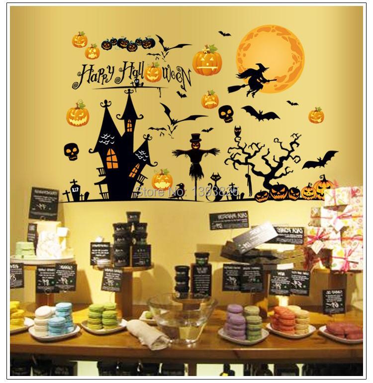 Happy Halloween Tips On Home Decoration 1: 1pcs Happy Halloween Party Decoration Removable Wall