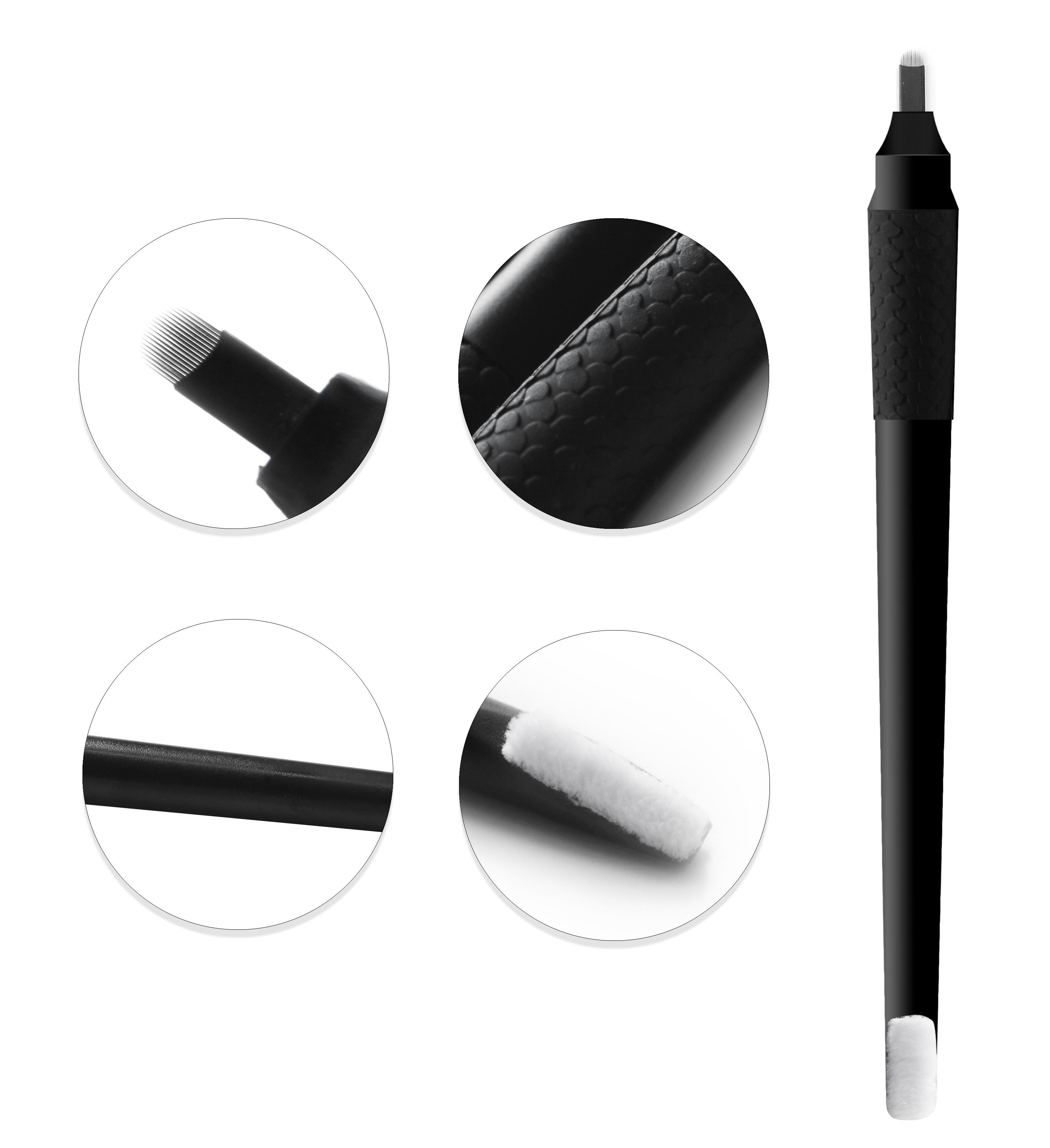 Собственная этикетка, этиленвинилацетат, стерилизованный газ, тату для бровей, 0,18 мм, одноразовая ручка для микроблейдинга, тату-ручка для бровей, лезвия для хода волос