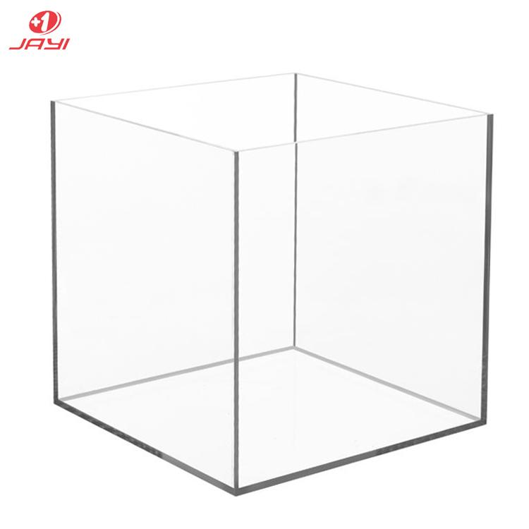Акриловая коробка большого размера, высокая прозрачность, универсальный дизайн, 5 сторон, 4x4x4 дюйма