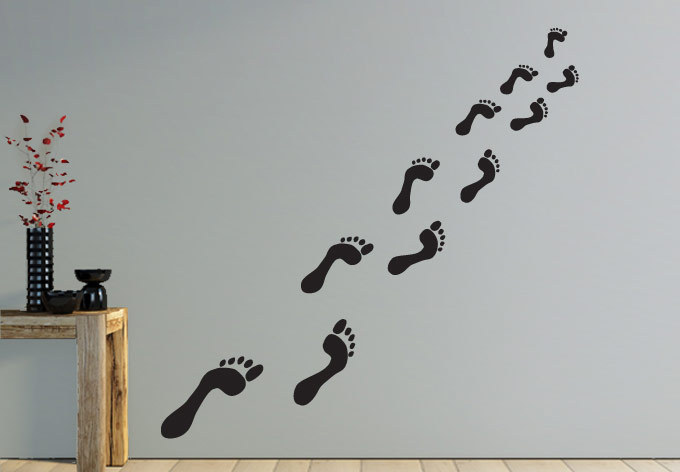 People Footprint Wall Decal Stickers Creative Home Decoration Stiker For Living Room Accessories Decorations