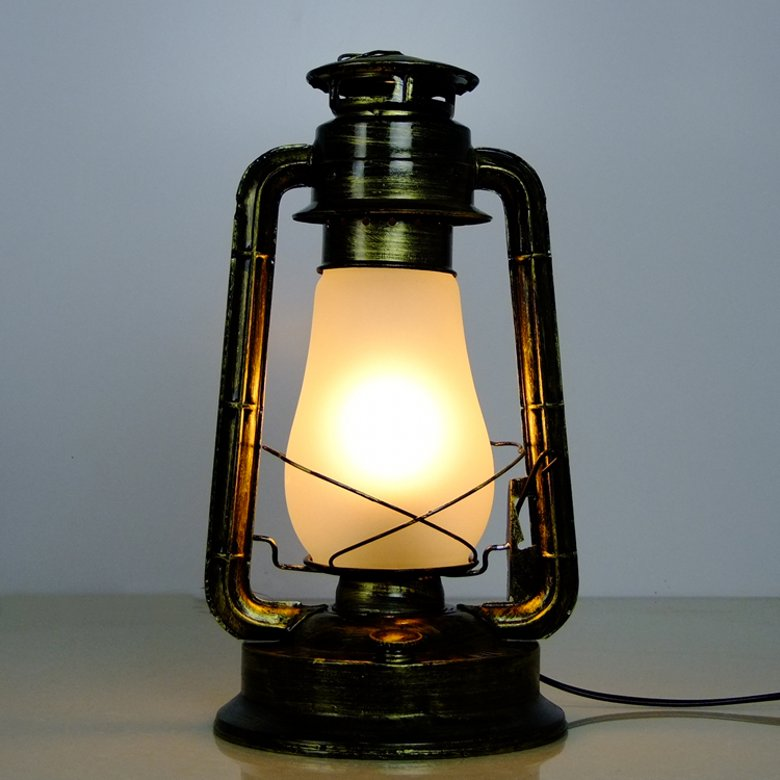 Fashion Kerosene, Table Lamp Nostalgic Vintage Kerosene