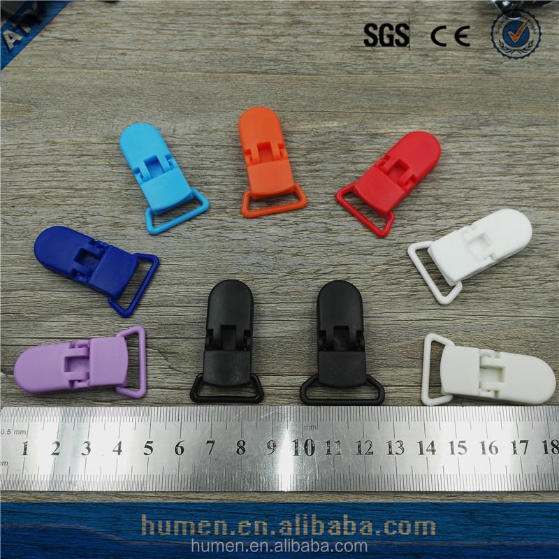Factory Price small POM Material clips fashion plastic Suspender Clip