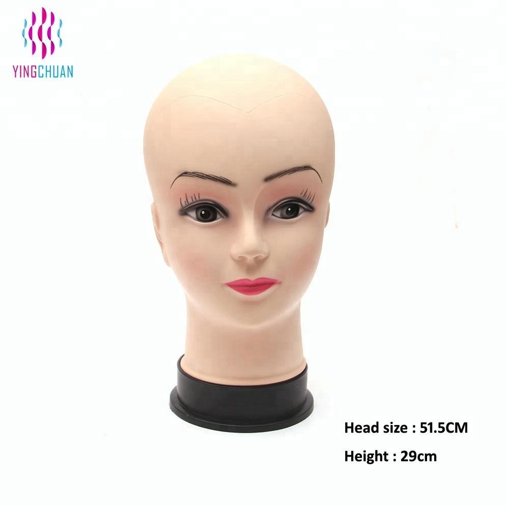 Недорогая голова манекена для обучения волосам из ПВХ
