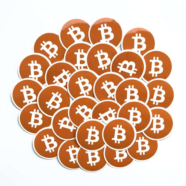 bitcoin hologram stickers