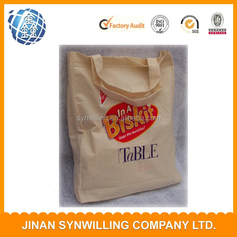 Wholesale Large Shopping Bag Plain Tote Bag Cotton With