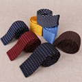 New Arrival Business Wedding Grooms Polyester Silk Candy Color Dot Necktie for Suit Shirt Slim Knit