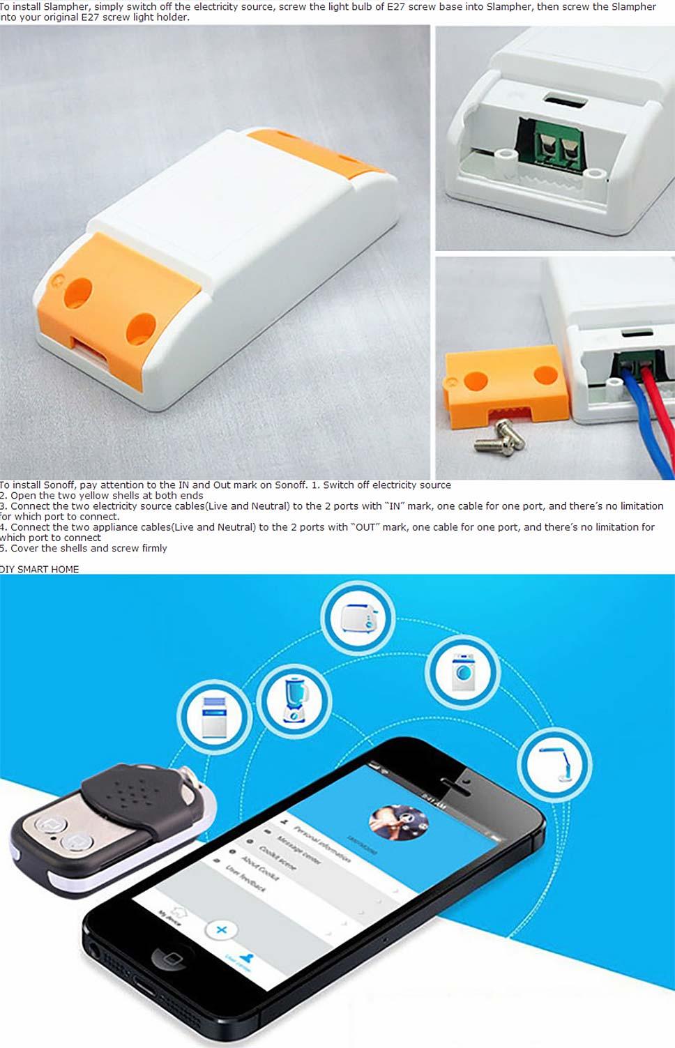 Sonoff Smart Wifi Switch DIY Remote Wireless Smart Switch