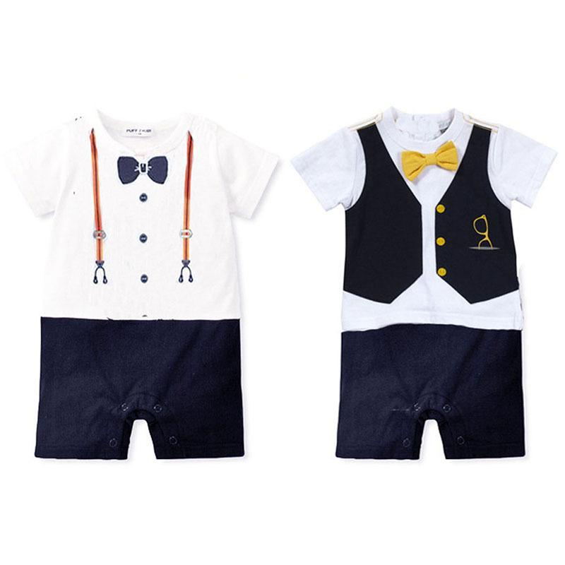 9d961ceb3edc Wholesale Summer Newborn baby romper suit kids boys girls rompers body  summer short-sleeve Tie ...