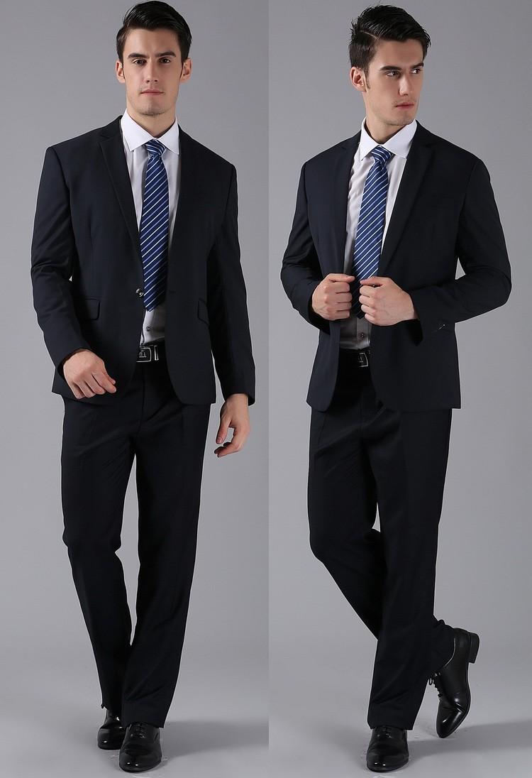 (Kurtki + Spodnie) 2016 Nowych Mężczyzna Garnitury Slim Fit Niestandardowe Garnitury Smokingi Marka Moda Bridegroon Biznes Suknia Ślubna Blazer H0285 33
