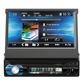 KSD-9501 Universal 1 din 7 inch touch screen car dvd player with BT and TV gps