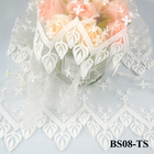 CYG XXY70 Bridal Tulle Mesh Floral Embroidery Lace Fabric Curtain DIY Lace Fabric