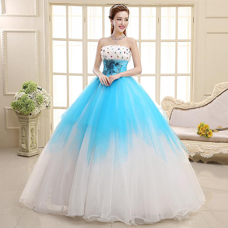 Элегантное голубое платье принцессы с бисером из пряжи, новинка, свадебное платье, вечернее сценическое платье для фотостудии