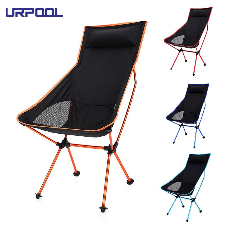 600D Tissu Oxford Avec Protection UV Chaise Camping Pliante Avec Auvent