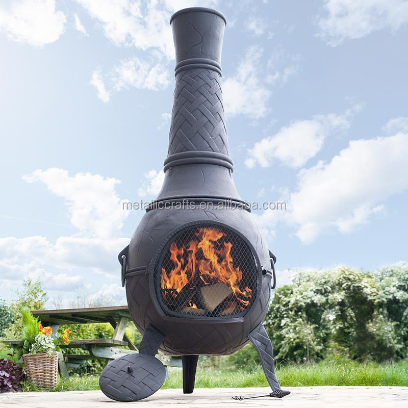 Large Solid Cast Iron Outdoor Woodburning Chiminea With A Weave Pattern Patio Used Charcoal Heater Garden Chimenea Buy Woodburning Chimenea Outdoor Heater Patio Chimenea Product On Alibaba Com