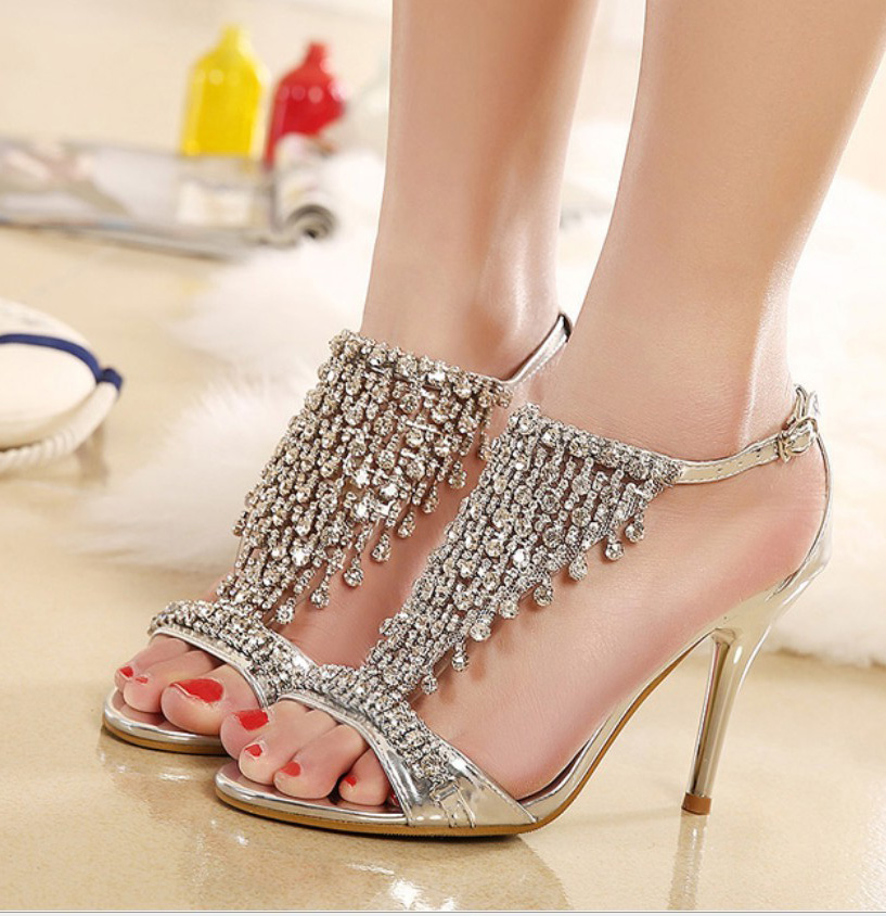 Rhinestone Wedding Heels: High Quality 2016 Wedding Bridal Party Shoes Tiered