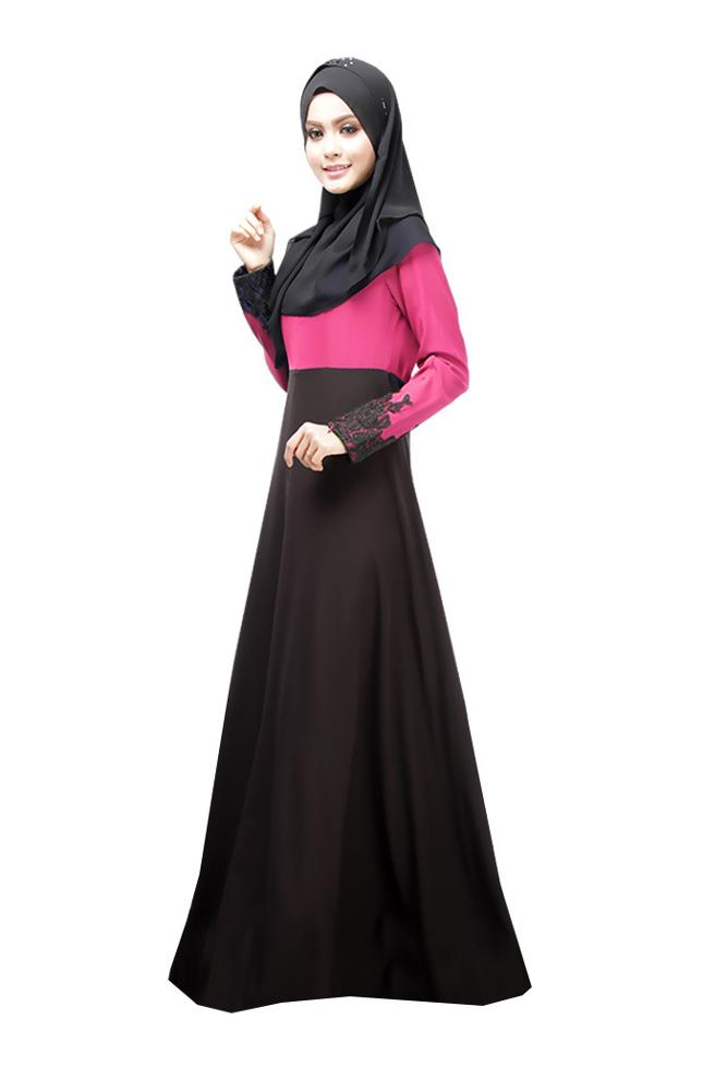 Latest Muslim Abaya Women Clothes Long Appliques Dress