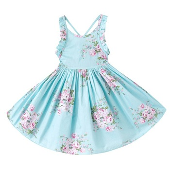 fashion backless frock designs baby girl summer dress cutting frock for travel