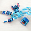 Girls Favorite Cartoon USB Cable Earphone Protector Set with Cable Winder stickers Spiral Cord protector For